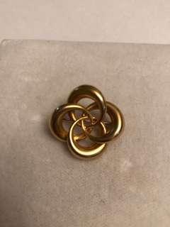10k gold vintage brooch