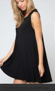 Brandy Melville Black Sleeveless Dress One Size