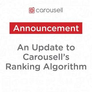 An Update to our Ranking Algorithm