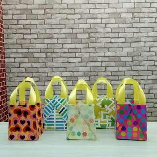 Mini Origami Paper Bag / Kantong Kertas Motif Campiur Size S