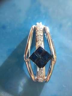 Ⓜ️❇️✨ 18K天然鑽石藍寶石吊咀 🤣 ✨❇️Ⓜ️