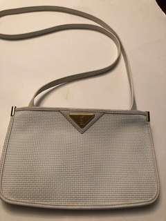 Authentic vintage YSL leather cross body bag