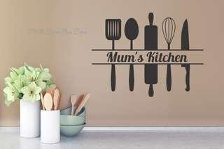 Wallsticker mum kitchen