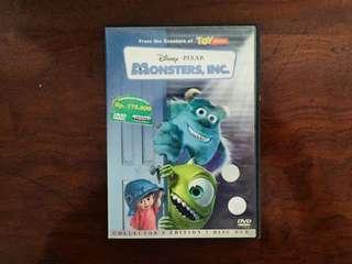 DVD original bekas Monster Inc.