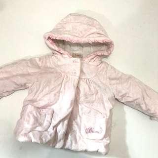 女童外套 Brums baby girl pink jacket 9m