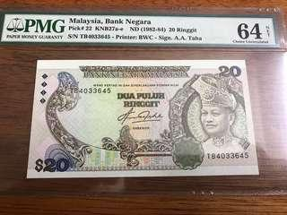 5th Series Ringgit 20