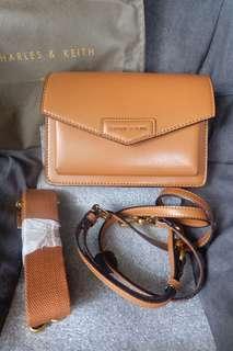 CK brown slingbag