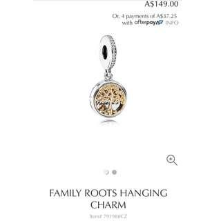 Pandora Family Roots Hanging Charm