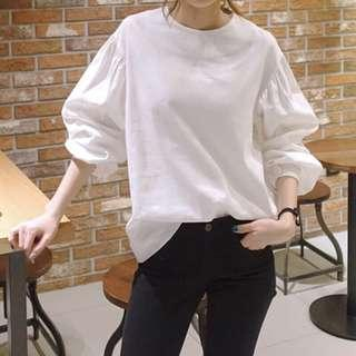 White puff long sleeve