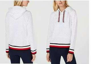 Tommy Hilfigher White Red Polka Sweater