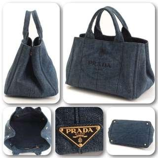 PRADA Canapa Mini 2 way Denim lady's ❤️
