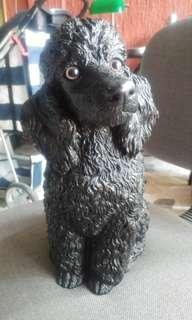Black poodle figurine