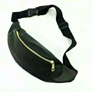 Black Waistbag leather