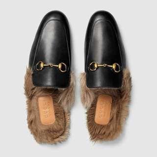 7成新Gucci 懶人毛毛拖鞋,經典款 39號