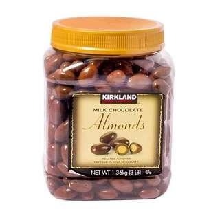 Kirkland Signature Milk Chocolate Almonds Jar