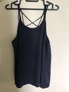 BN Dark Blue Spag Top with back details