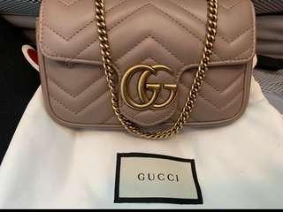 Authentic Gucci Marmont Super Mini Bag