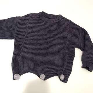 Purple winter knit top 18-24m