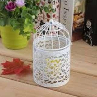 Metal Hollow Candle Holder Tealight Portable Hanging