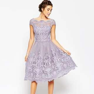 Chi Chi London - puffy lavender dress