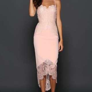 Elle Zeitoune - Formal Mid length dress (Blush Pink) RRP $299