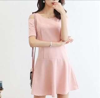 🚚 korean pink sheath dress