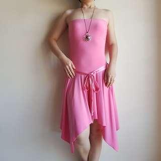 🆕️ Voir High-Low Pink Tube Dress #CNY888 #CNYRED