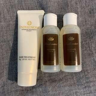Milbon Inphenom treatment x 1, 日本Padomari Herb soap x 2 (包順豐)