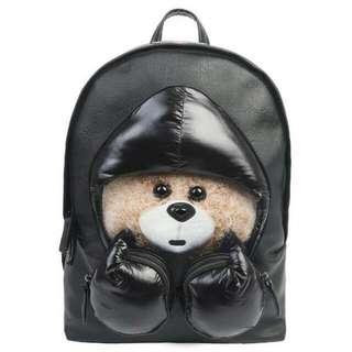 DANNY BEAR Original Women's Backpack Boxing Bearleather Bag #jan50