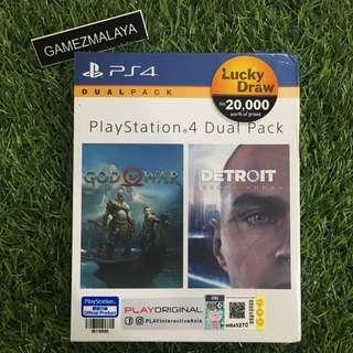 [NEW] PS4 GOD OF WAR 4 + DETROIT (DUAL PACK) R3 - ACCEPT TRADE-IN   NEW PS4 GAMES (GAMEZMALAYA)