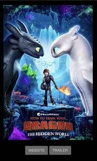 How To Train Your Dragon: The Hidden World movie tickets @ GV
