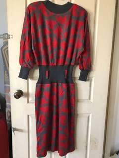 🚚 針織長洋裝(二手)