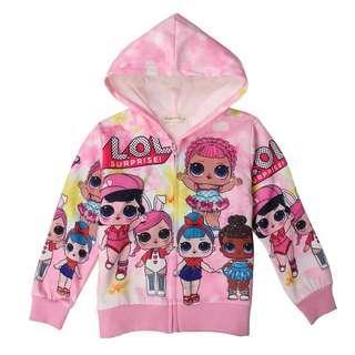 Little LOL Surprise Kid Jacket   Size: 100cm, 110cm, 120cm, 130cm, 140cm  Color: as attach photo