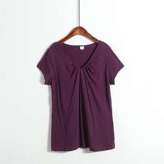 🚚 Purple V-Neck T-Shirt