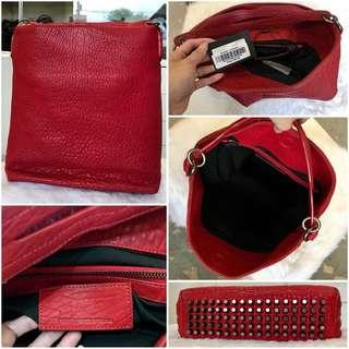 Alexander Wang Darcy Hobo Bag Bloody Red