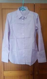 Brand New Uniqlo Women's Long Sleeve Shirt (Pastel Purple)