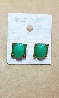 綠恐龍蛋耳環