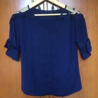 atasan dark blue (biru dongker)