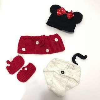 Minnie Mouse 造型 影樓 拍攝 costumes. New born