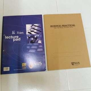 NUS Foolscap & Science Practical Book