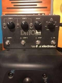 Guitar Pedals ditto X4 Looper for sale
