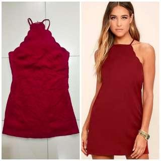 Lulus Wine Dress