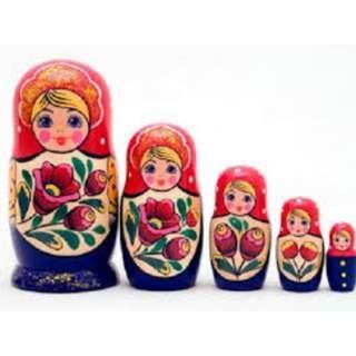 Matryoshka stacking nesting doll from Russia
