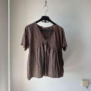Zara olive green v neck