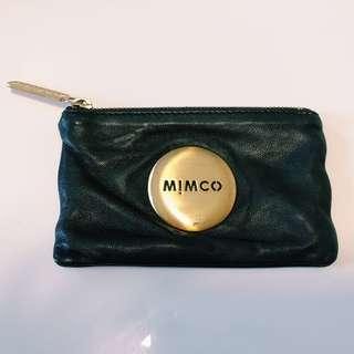 MIMCO BLACK LEATHER POUCH