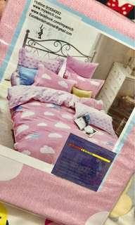 Queen Bed Fitted Sheet Set with Quilt Cover
