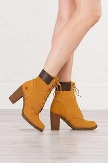 timberland brown boot heel