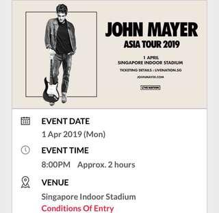 WTB Cat 2/3 Pair John Mayer Singapore Tour