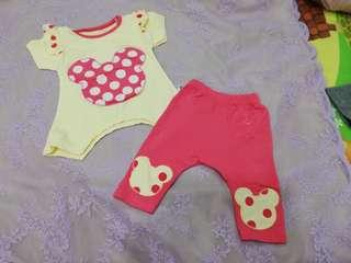Shirt + short pants clothing set