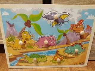 Wooden Puzzle (Dinosaurs, farm animals, zoo animals, insects, sea creatures)